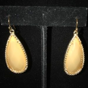 Anna & Ava cream stone drop earrings